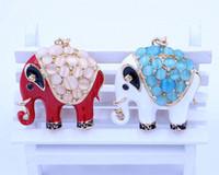 rhinestone keychain - New Rhinestone Creative Elephant keychain Cartoon Pendent Crystal Key Chain Charms Gift HX