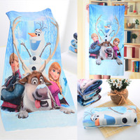 Wholesale Princess Frozen Anna Elsa Queen Image Cartoon Bamboo Fabric Bath Towel Shower cm Large