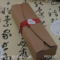 kraft box - 2015 Food Accept Real Hot Sale Cardboard Box Macaron Packaging Caixa Kraft Paper Boxes Jewelry Cake Gift set cm A2