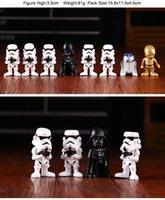 L'action de guerre France-2016 anime Star Wars 7pcs / set jouets en PVC merveille jouets d'action jouet Starwars Star Wars Maître Yoda garçons jouets avec boîte de papier de couleur E125J