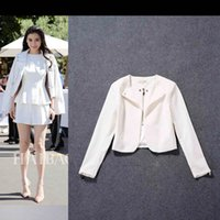 big film shorts - anglebaby Ying Yang Cannes Film Festival with fashion models big early autumn jianling motorcycle jacket short paragraph suit