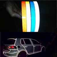 Wholesale Car decoration cm cm Motorcycle Reflective Tape Stickers Car Styling For Mazda Toyota VW Wolkswagen Chevrolet Peugeot More