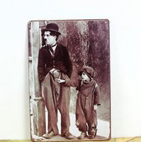 Cheap Wholesale Retro Metal Art Poster FATHER&SON! Vintage Antique Metal Tin Signs Decor Home Club Bar Cafe Hotel Free Shipping SU07