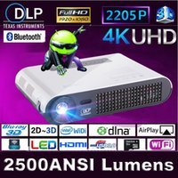 Wholesale Home theater Portable DLP Shutter D LED android smart Projector K chipset Ultra HD pocket cinema Mini movie Hologram proyector
