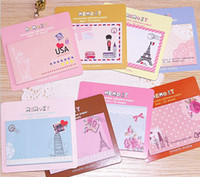 Wholesale New Kawaii quot Eiffer Tower Gril quot Printed Post It Sticker Note Bookmarker Memo Pad Flags Sticky Note N