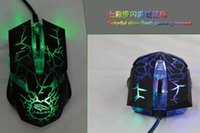 Wholesale 6D DPI Gaming Mouse with bright colors LED Wired Crack mice for computer