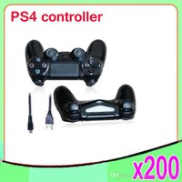 Cheap New arrival wired Doubleshock 4 Wired Controller for PlayStation 4 PS4 Gaming Console gamepad 200 pcs ZY-PS-06