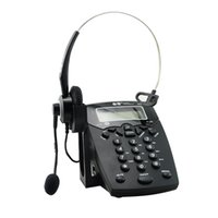 Wholesale Business Telephone With Corded Headset Call Center Phone Dial pad LCD Display