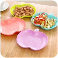 apple fruit salads - Colorful big apple snack tray fashion models creative fruit plate salad plate dried fruit plate plastic plate K4000