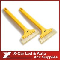 Wholesale Long handle Rubber Wiper Plate Car Sticker Scraping Board Car Wash Water Scooter Snow Shovel And Glass Cleaning Tools
