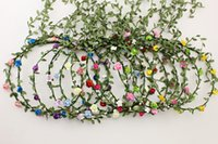 Wholesale Colorful Flower Wreaths Hair Paper Garland Silk Flowser Artificial Flowers For Wedding Decorative Flowers
