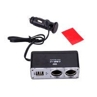 DC 12V Under 10 Volts new DC 12V Dual Sockets 2 USB Cigarette Lighter Splitter Car Charger Adapter for iPod cell phone MP3 player Car Styling