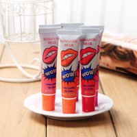 orange peel - Romantic Bear Lip Gloss Peel off Lasts For h No Stain Marine Collagen Lipsticks Balm Plant Colors Makeup Moisturizing box B220