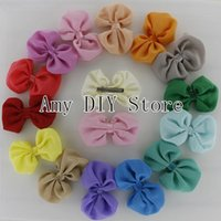 baby apparel boutique - xayakids New style Baby Girls Boutique hair Bows chiffon bows WITH hair clips for Apparel ornament accessories120pcs HJ