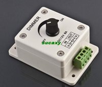 Wholesale 2015 New Hot Sale V A PIR Sensor LED Strip Light Switch Dimmer Brightness Adjustable Controller Freeshipping