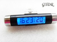 Wholesale Hot sale New Automotive Electronic Mini LED Glow Display Clip on Car Thermometer Clock