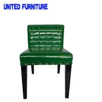 Wholesale European style furniture leather modern chair fashion lucency chair creative multicolor dining chair