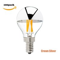 Wholesale DHL Free Retro LED Filament bulb W K Crown Sliver Edison G45 Globe Lights E12 E14 Base Dimmable