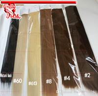 Extensions de cheveux de bande de trame de peau de PU Les cheveux brésiliens les plus vendus # 613 Blanchissent les cheveux humains blonds de Remy 22 pouces Livraison gratuite