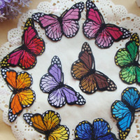Wholesale Hot Sales Color Butterfly x cm Embroidered Iron on Patch Applique