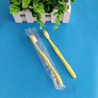 Wholesale adult Travel hotel soft cheapest toothbrush Disposable dental supplies two in one set