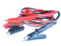 Wholesale 2X High Quality Copper Double Alligator Clips Silicone Cable Voltage Test Cables