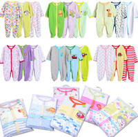 Wholesale Baby Rompers Cotton Infant Newborn Baby Girl Jumpsuits pc Long Sleeve Newborn Baby Boy Clothing Baby Products