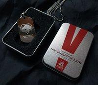 MGS 5 Metal Gear Solid V Фантомная боль Двусторонние собаки из военной лисицы Логотип Металлическая собака Tag привесное ожерелье с железным ящиком