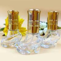 mini perfume atomizer - 6ml Cute Glass Shoes Design Perfume Bottle Refillable Empty Cosmetic Scent Bottle MINI Fragrance Atomizer Spray Makeup Tools DC597
