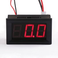 Wholesale 0 quot Red Led Display Current Monitor DC A Ampere Meter DC V V Digital Ammeter