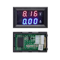 Wholesale 1pcs Hot Worldwide DC V A Voltmeter Ammeter Blue Red LED Amp Dual Digital Volt Meter Gauge