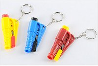 Wholesale Seatbelt Cutter Emergency Glass Breaker with KeyChain Smart AUTO Emergency Hammer Car Escape Tool