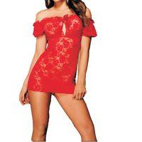 Wholesale 151204 Hot Sexy Lingerie Lace Lingerie Slim type Short Perspective Dress Erotic Lingerie Sex Toys for women Sex Products