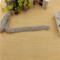 Wholesale Rhinestone decoration Chain trims Bridal Beaded Trimming Crystal Applique for fashion dresses costume sewing trims