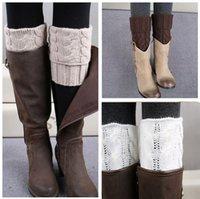 wool boot socks - Free DHL polainas de inverno Fashion Women knit leg warmers winter wool boot socks boot cuffs gaiters knee high socks