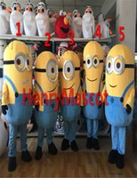 Wholesale styles latest Minions Despicable Me mascot costume Walking Cartoon Costume Suit Cartoon Character Costume Carnival Costume