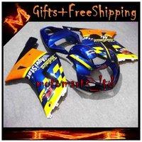 telefonica - GSXR600 GSXR750 Telefonica yellow blue Body Kit Fairing For Suzuki GSXR GSXR750 GSX R K1