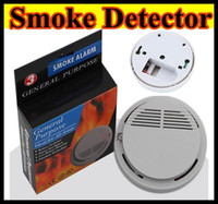 public - High Sensitivity Stable Photoelectric Smoke Alarm Fire Smoke Detector Sensor Home Security System white for Home public place