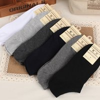 Wholesale Men socks Spring Summer and Autumn Cotton Short Ankle Boat Socks Sport Business Casual Male Brand Sock Solid Color