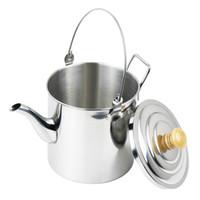 coffee pot tea - Outdoor Camping Pot Stainless Steel Tea Kettle Coffee Pot Water Bottles ml H14629