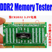 Wholesale New Notebook memory DDR2 Diagnostic tool Tester with light Dummy load Notebook motherboard fault diagnosis order lt no track