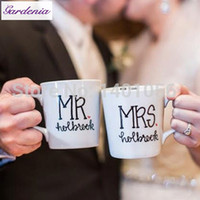 anniversary coffee mugs - Unique Wedding Present Mr and Mrs Customized Coffee Mugs Wedding Gift for Wife Newlyweds Anniversary Gift Creative Tea Cup