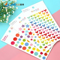 Wholesale Pack Dots Love Star Diary Deco Sticker Note Sticker Message Sticker Decoration Label