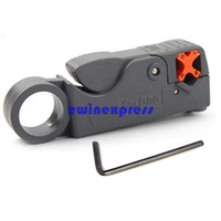 Wholesale Hot Good New Rotary Coaxial Coax Cable Cutter Stripper Tool for RG58 RG6 RG59 Lead Insulation