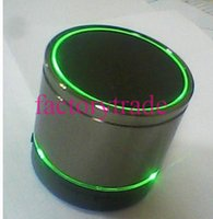 Wholesale Top quality Style LED Light S09 Wireless Mini Speakers Bluetooth HiFi beatbox TF Card with MIC For iphone htc samsung S4 I9500 cheap