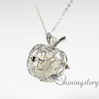 apple pendants - openwork apple volcanic stone diffuser necklace essential oil diffuser necklace oil necklace aromatherapy necklace aromatherapy in