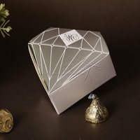 Wholesale Diamond Wedding Favor Boxes Wedding Candy Box Casamento Wedding Favors And Gifts Event Party Supplies
