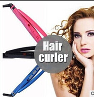 hair packaging - pro hair curl Automatic hair curler curlers roller curling irons Black Blue Pink US EU AU UK plug optional with retail package