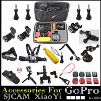 aluminum heads - GoPro Accessories Set Kit Head Chest Mount Floating Monopod Pole for Go Pro Hero Session SJCAM SJ4000 Sj5000 Xiaomi Yi