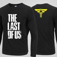 L vidéo France-Vente en gros-Le dernier d'entre nous Fireflies symbole Long-T-shirt Jeux vidéo 100% coton t-shirt XS-2XL livraison gratuite